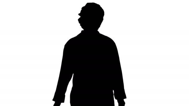 Silhouette Szép szőke nő Doktor Walking.