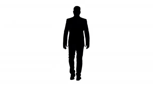 Silhouette eines selbstbewussten Geschäftsmannes.