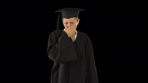 Mladý postgraduální student v plášti kašel, Alpha Channel