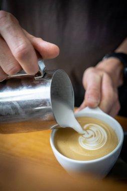 making of latte arte