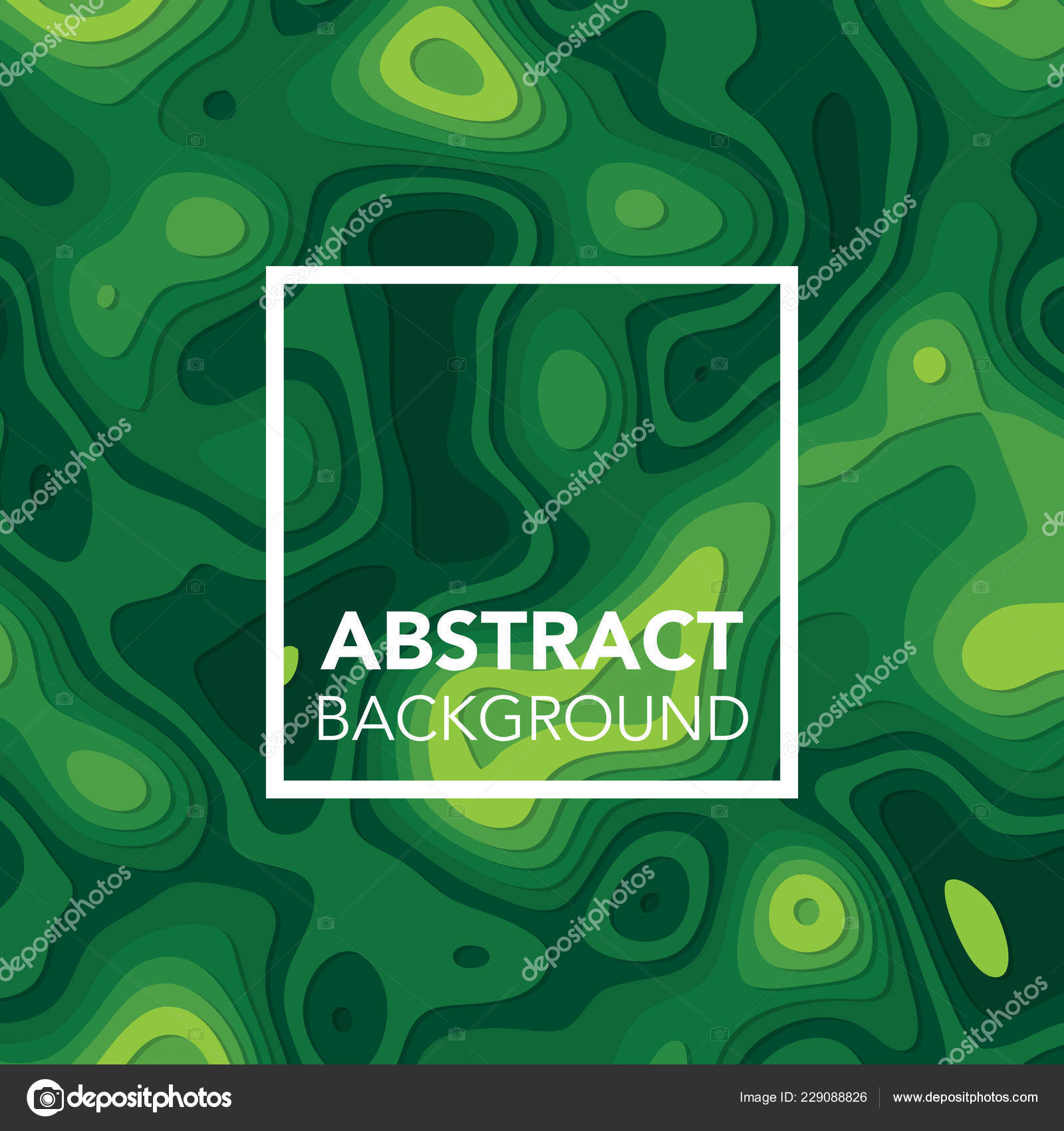 Green Abstract Background Paper Cut Shapes Available High