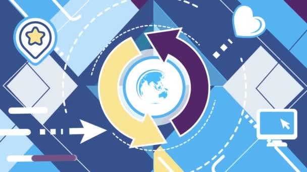 Shapovy pozadí v globálním Internetu