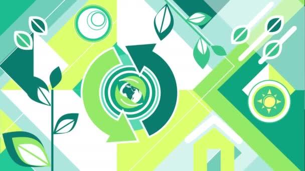 Ecology Shape Loop Background.