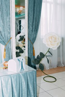 Decorated wedding banquet hall in classic style
