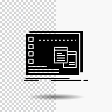 Window, Mac, operational, os, program Glyph Icon on Transparent Background. Black Icon icon