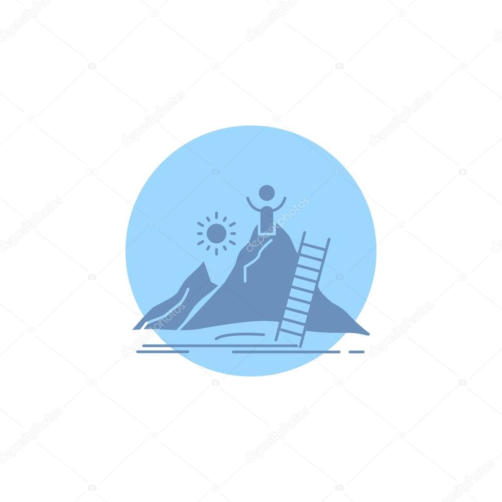 Success, personal, development, Leader, career Glyph Icon.