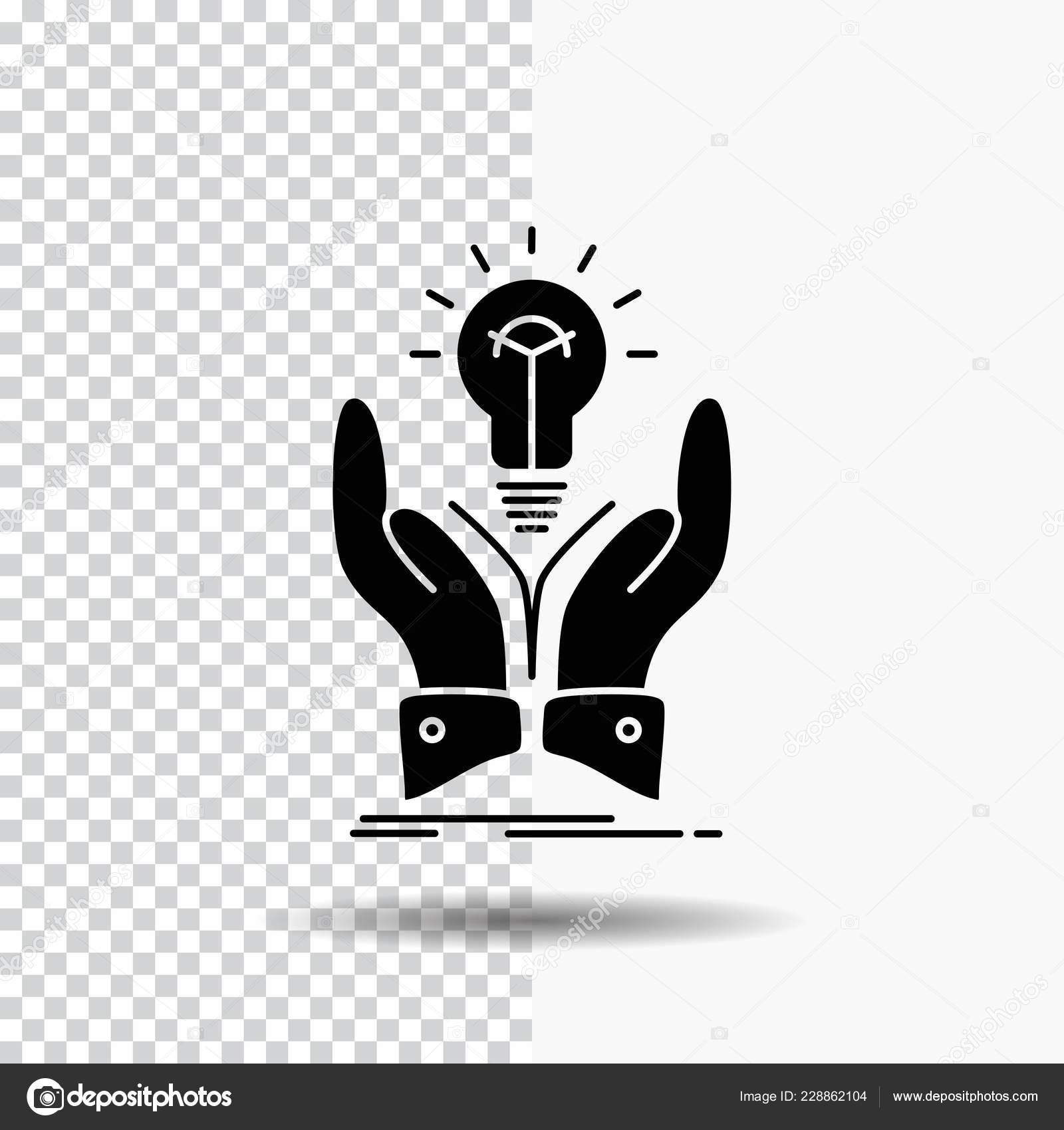 Idea Ideas Creative Share Hands Glyph Icon Transparent