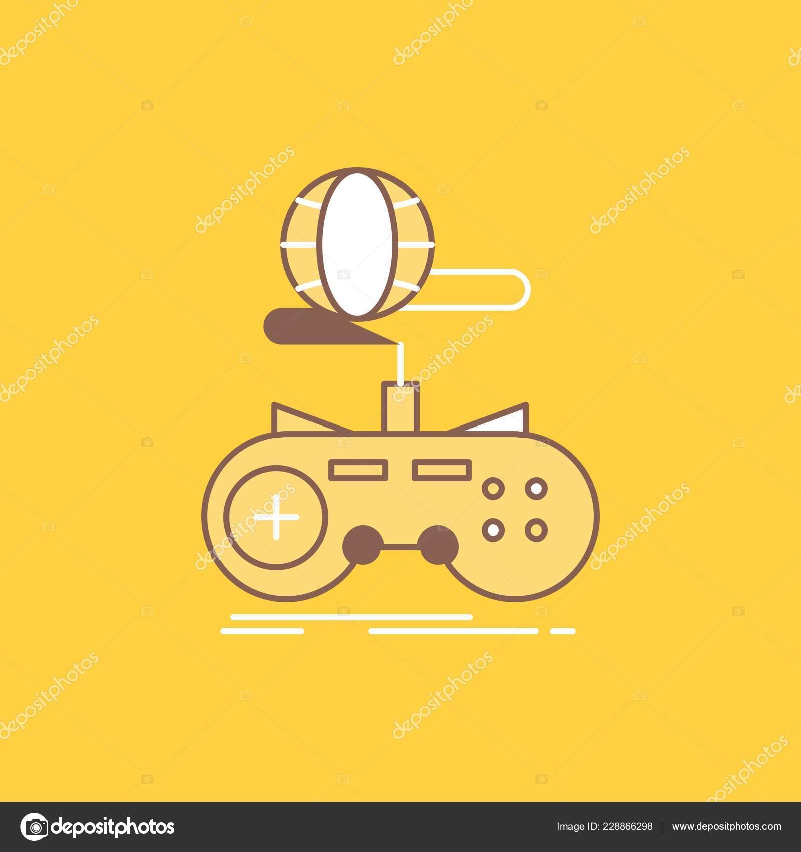 Game Gaming Internet Multiplayer Online Flat Line Filled