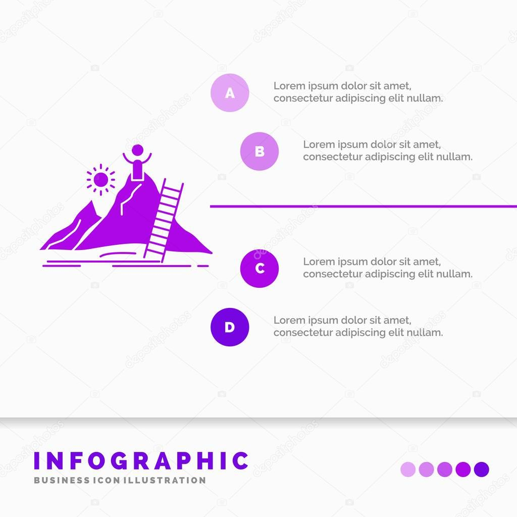 Success, personal, development, Leader, career Infographics Template for Website and Presentation. GLyph Purple icon infographic style vector illustration.