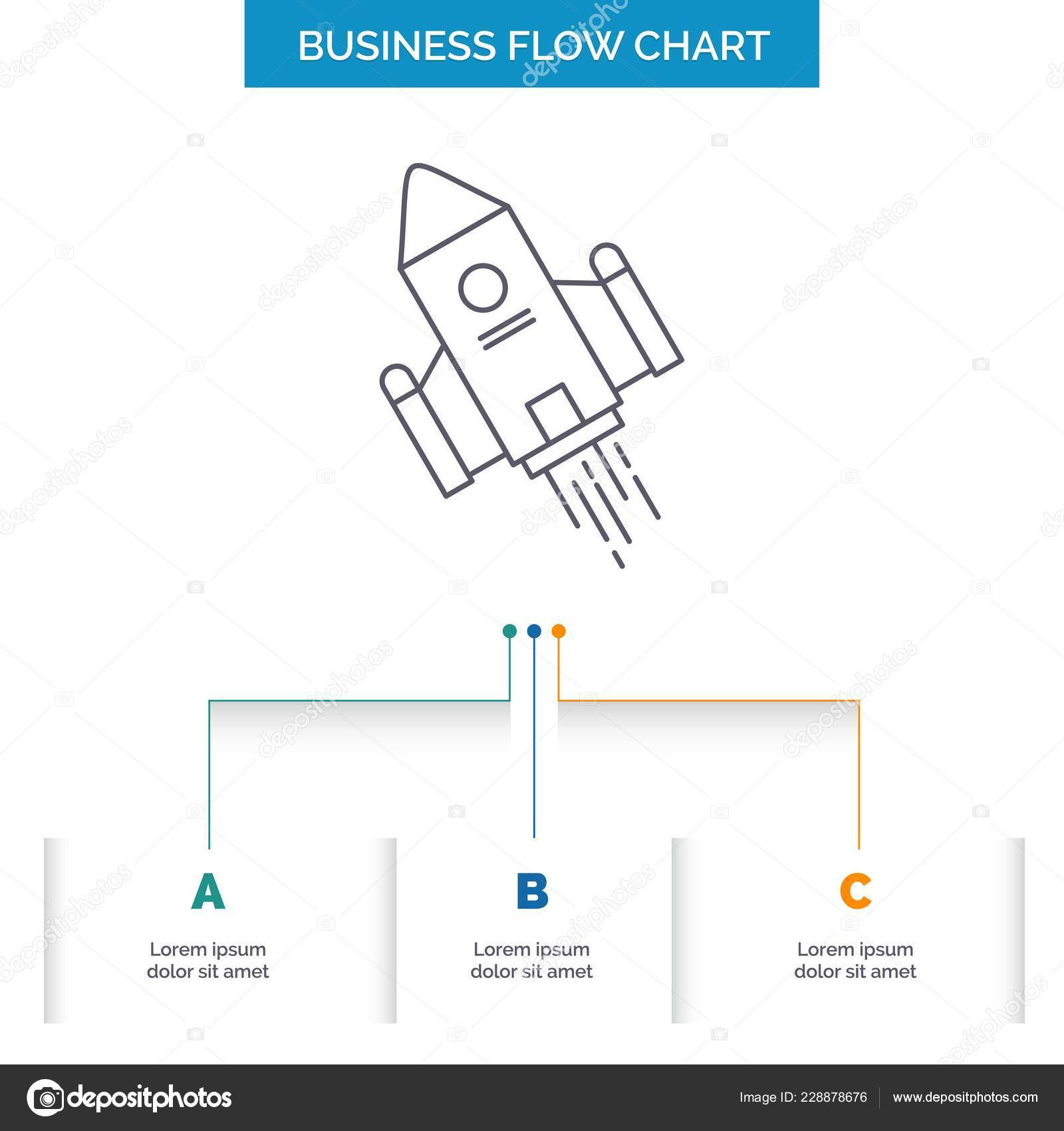 Space Craft Shuttle Space Rocket Launch Business Flow Chart Design