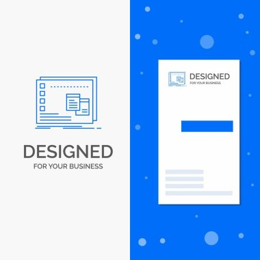 Business Logo for Window, Mac, operational, os, program. Vertical Blue Business / Visiting Card template icon