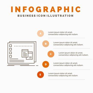 Window, Mac, operational, os, program Infographics Template for Website and Presentation. Line Gray icon with Orange infographic style vector illustration icon