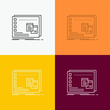 Window, Mac, operational, os, program Icon Over Various Background. Line style design, designed for web and app. Eps 10 vector illustration icon