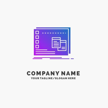Window, Mac, operational, os, program Purple Business Logo Template. Place for Tagline. icon