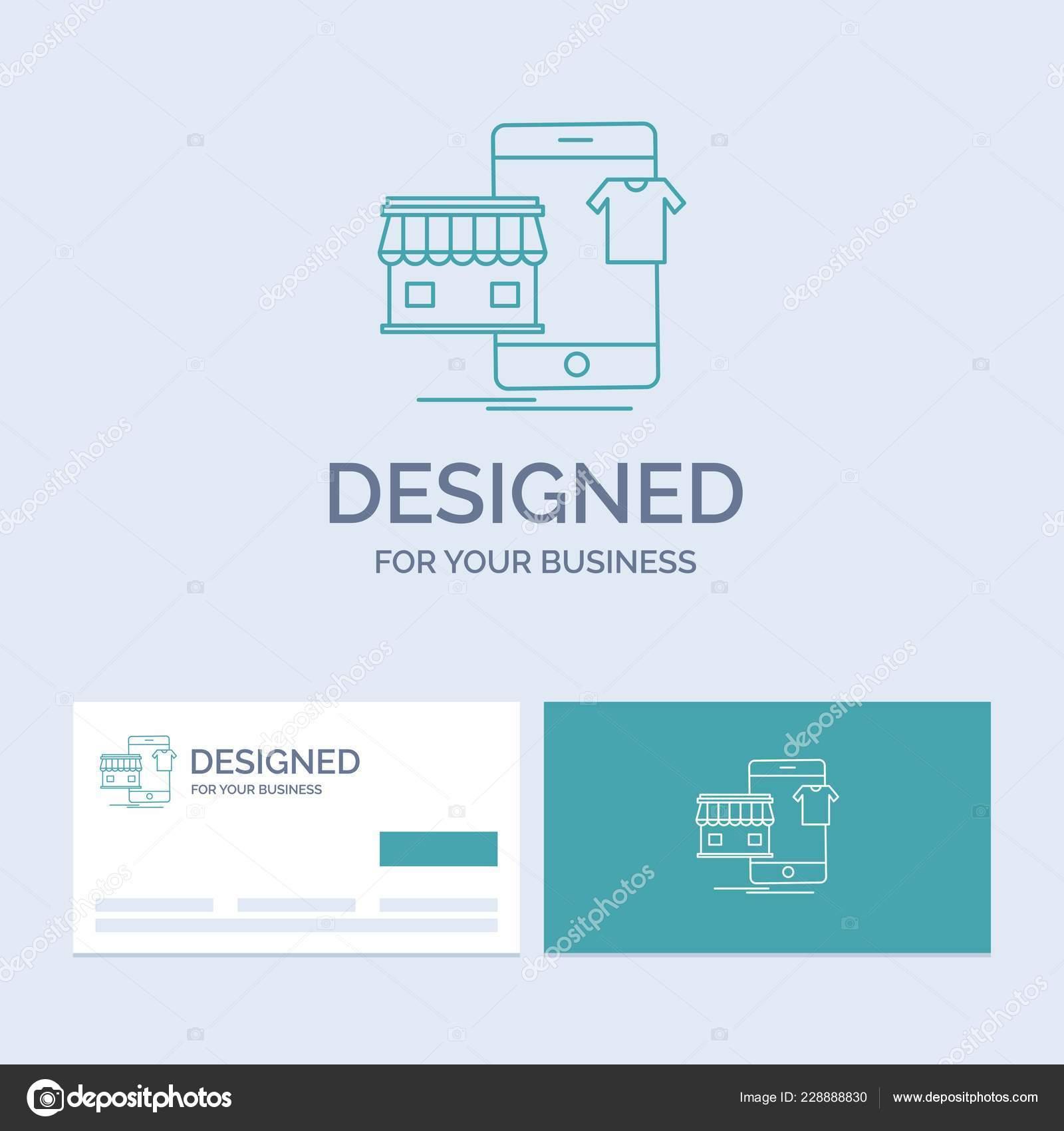 Shopping Vetements Acheter En Ligne Boutique Business Logo Symbole Dicone Pour Votre Entreprise Cartes De Visite Turquoise Avec Modele