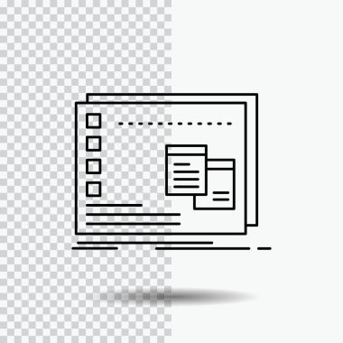 Window, Mac, operational, os, program Line Icon on Transparent Background. Black Icon Vector Illustration icon
