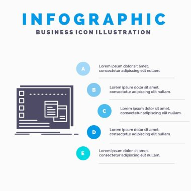 Window, Mac, operational, os, program Infographics Template for Website and Presentation. GLyph Gray icon with Blue infographic style vector illustration. icon