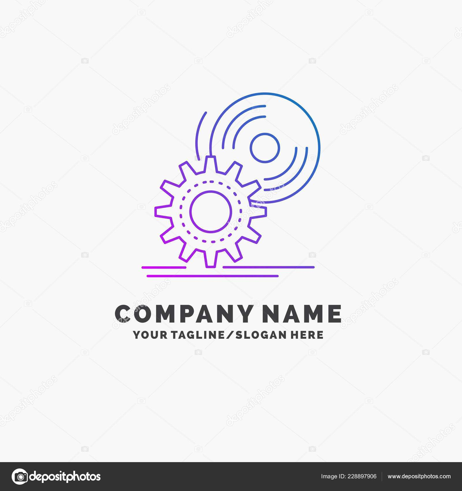 Disc Install Software Dvd Purple Business Logo Template