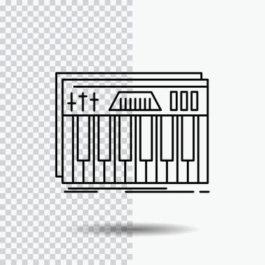 Controller, keyboard, keys, midi, sound Line Icon on Transparent Background. Black Icon Vector Illustration