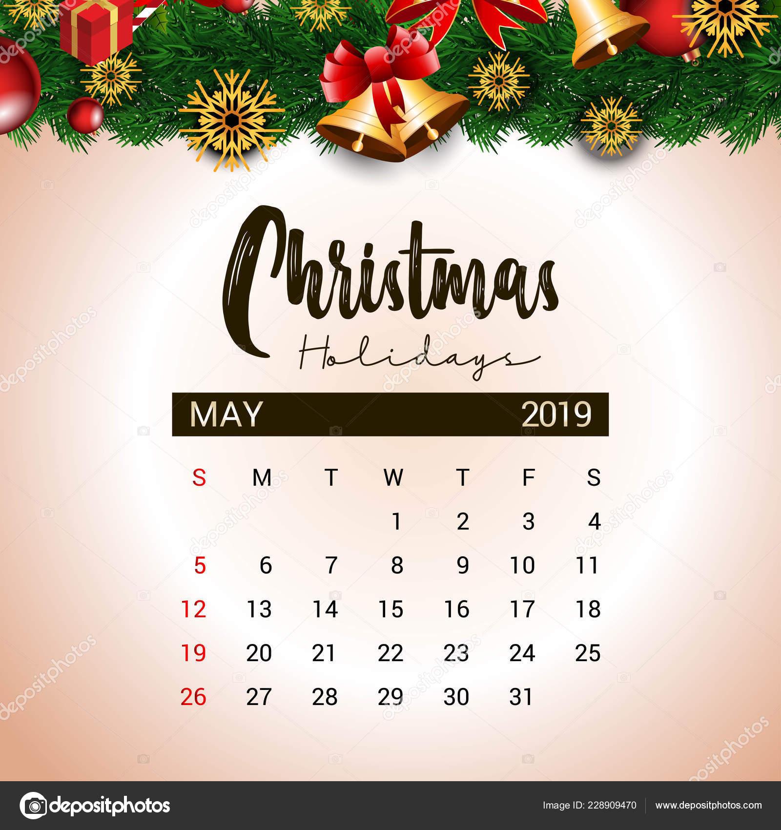 Kalender Weihnachten 2019.2019 Kann Design Vorlage Von Weihnachten Oder Silvester Dekoration