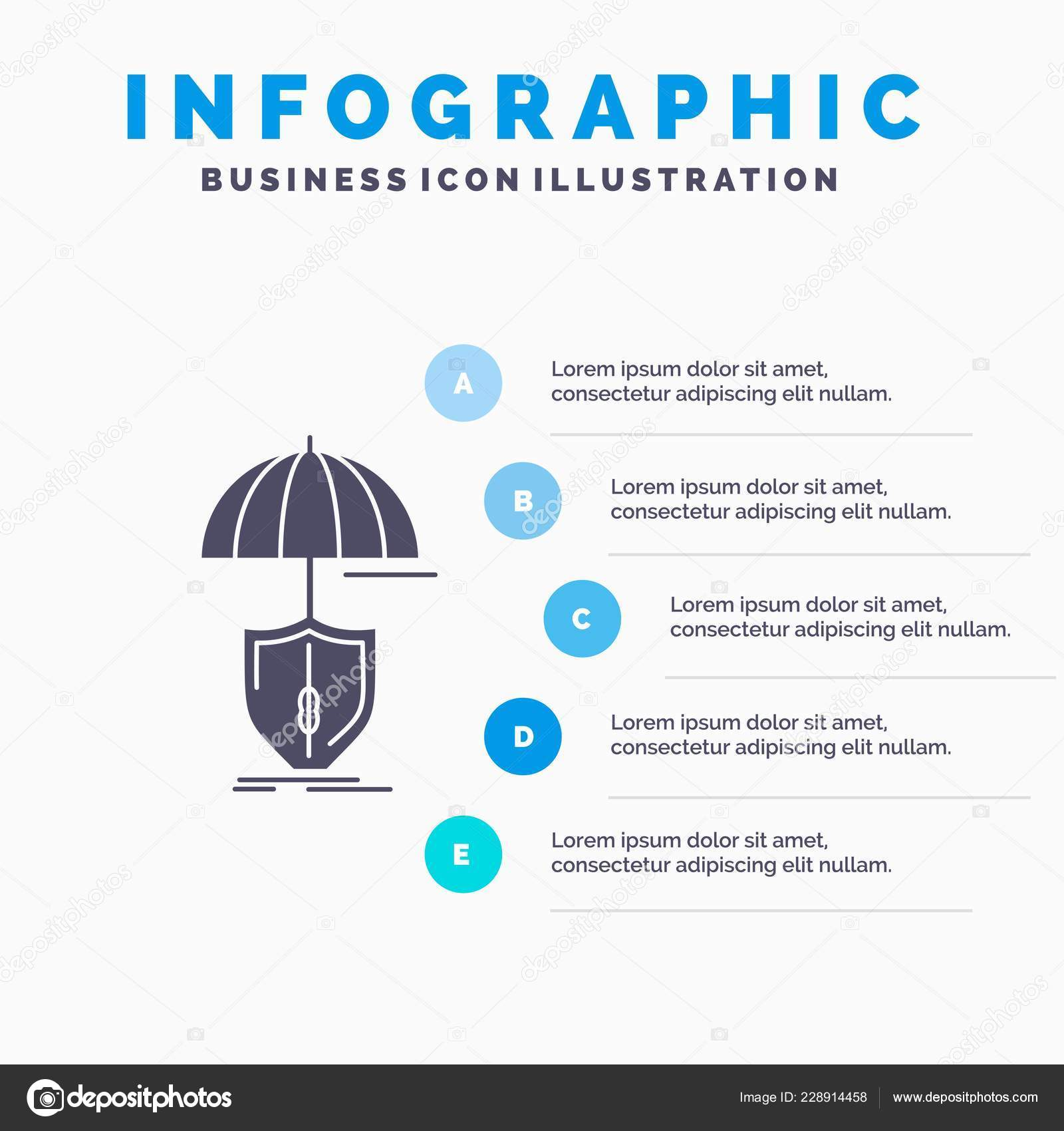 Insurance Protection Safety Digital Shield Infographics