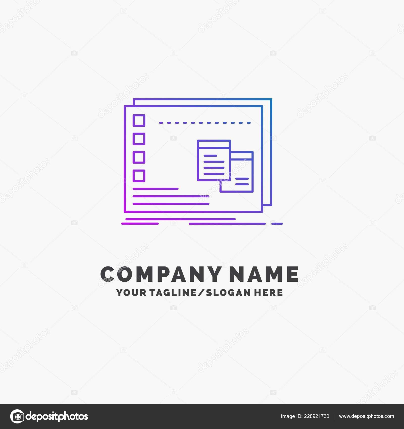 Operative Fenster Mac Programmieren Lila Business Logo