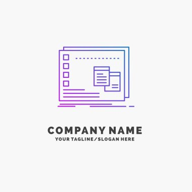 Window, Mac, operational, os, program Purple Business Logo Template. Place for Tagline icon