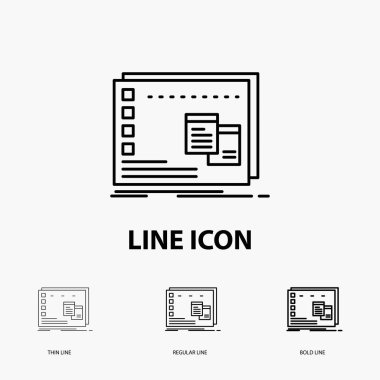 Window, Mac, operational, os, program Icon in Thin, Regular and Bold Line Style. Vector illustration icon