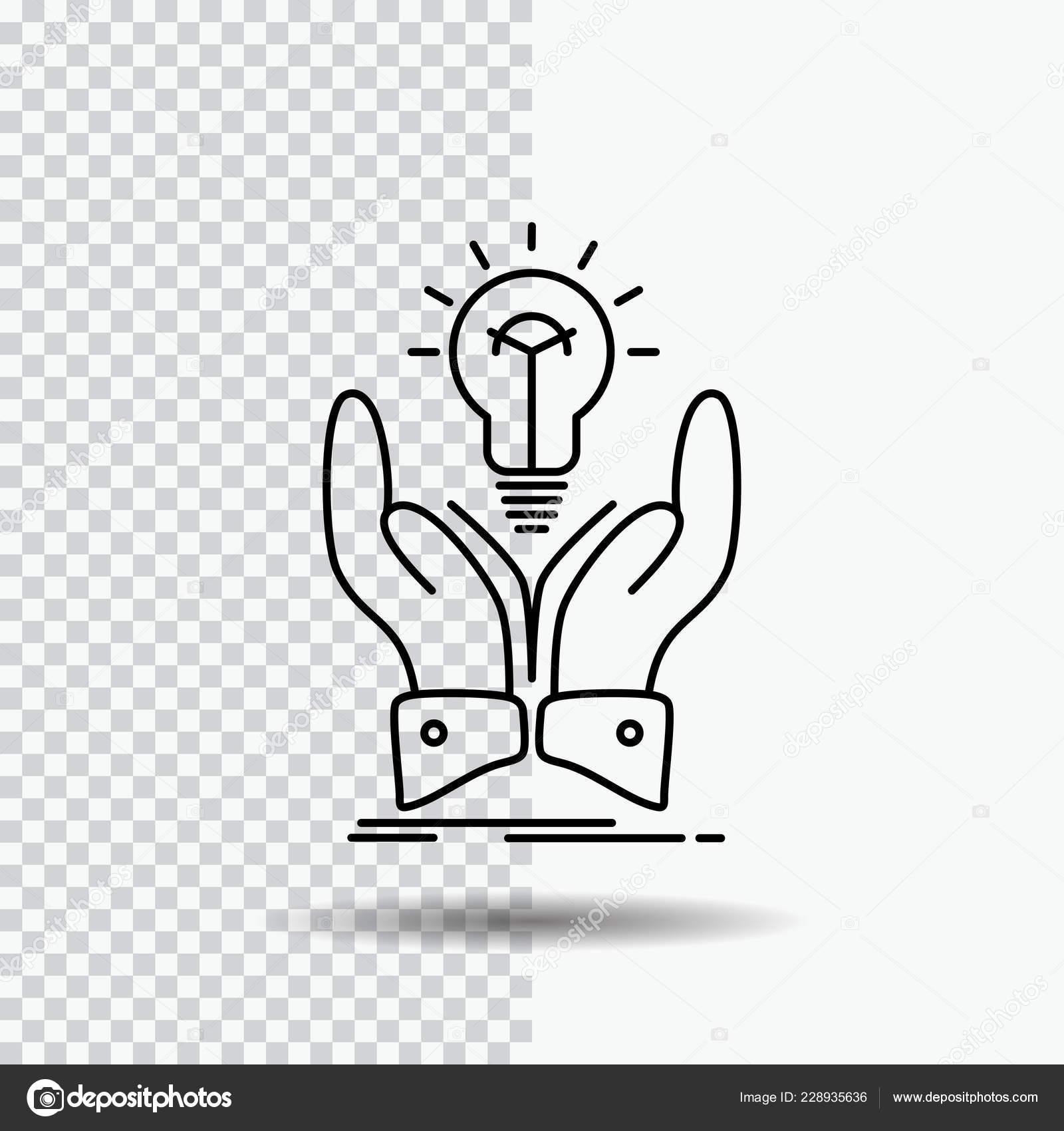Idea Ideas Creative Share Hands Line Icon Transparent