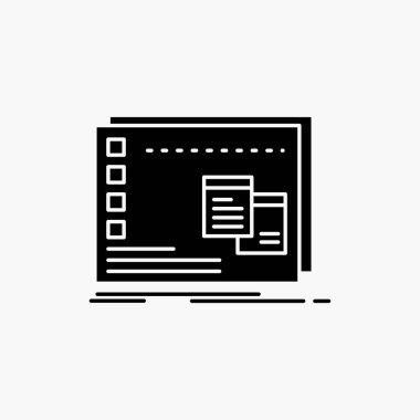 Window, Mac, operational, os, program Glyph Icon. Vector isolated illustration icon