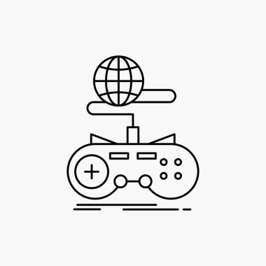 Game, gaming, internet, multiplayer, online Line Icon. Vector isolated illustration