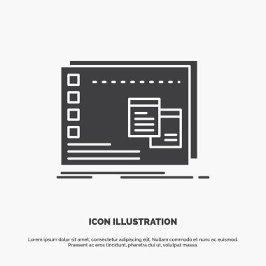 Window, Mac, operational, os, program Icon. glyph vector gray symbol for UI and UX, website or mobile application icon