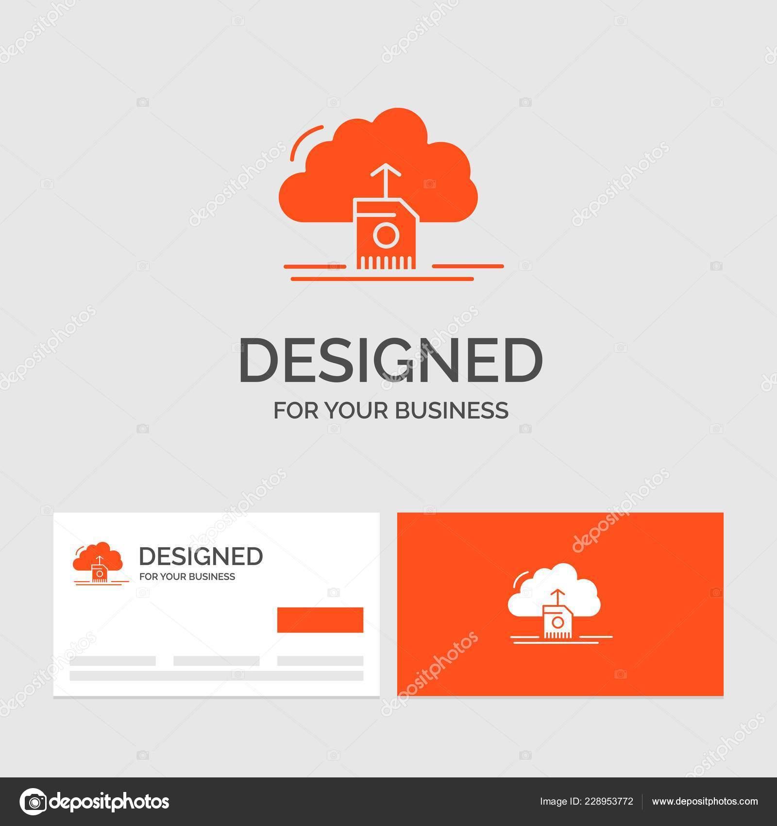 Business Logo Vorlage Für Die Cloud Hochladen Speichern