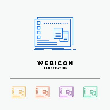 Window, Mac, operational, os, program 5 Color Line Web Icon Template isolated on white. Vector illustration icon