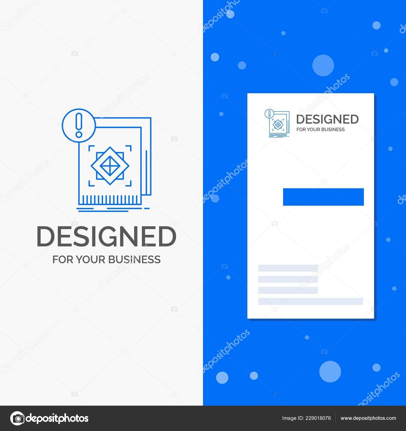 Logo Dentreprise Pour La Structure Norme Infrastructures Information Alerte Vertical Bleu Business Modele De Carte Visite Illustration Stock
