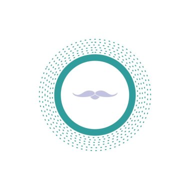 moustache, Hipster, movember, male, men Glyph Icon. Vector isolated illustration