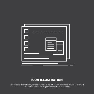 Window, Mac, operational, os, program Icon. Line vector symbol for UI and UX, website or mobile application icon