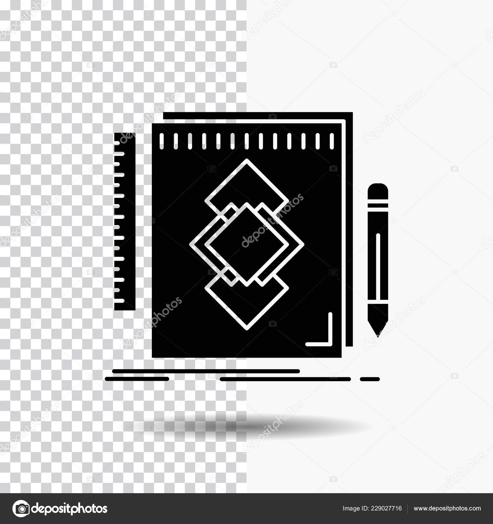 design tool identity draw development glyph icon transparent background black stock vector c flatart 229027716 depositphotos