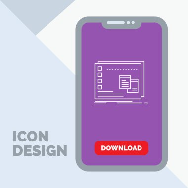 Window, Mac, operational, os, program Line Icon in Mobile for Download Page icon