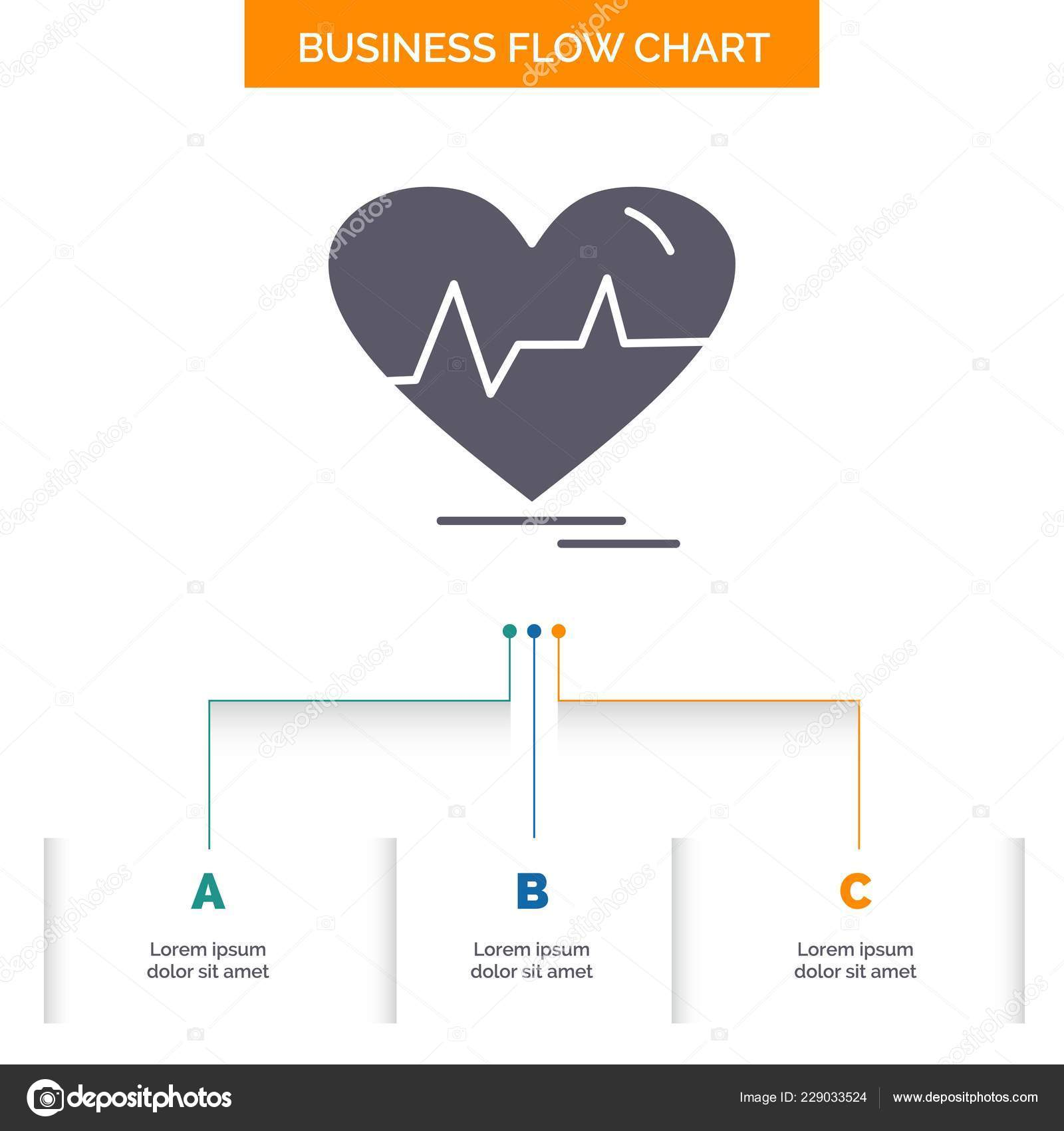 Ekg Herz Herzschlag Puls Beat Business Flow Chart Design Mit ... Beat Diagram on