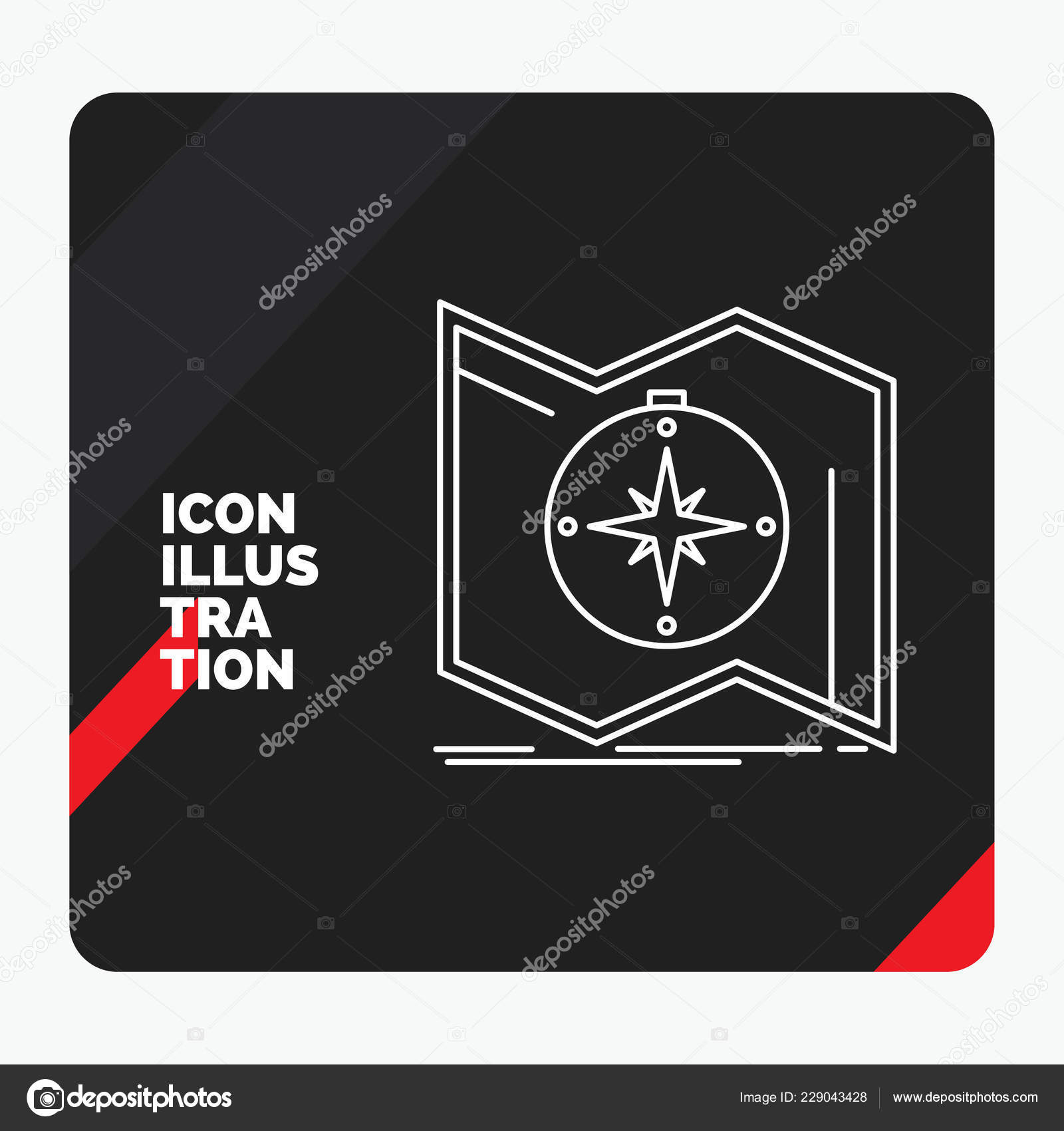 Red Black Creative Presentation Background Direction Explore