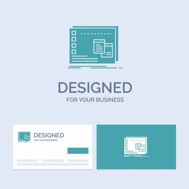 Window, Mac, operational, os, program Business Logo Glyph Icon Symbol for your business. Turquoise Business Cards with Brand logo template. icon