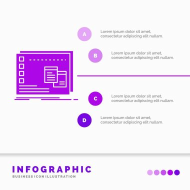 Window, Mac, operational, os, program Infographics Template for Website and Presentation. GLyph Purple icon infographic style vector illustration. icon