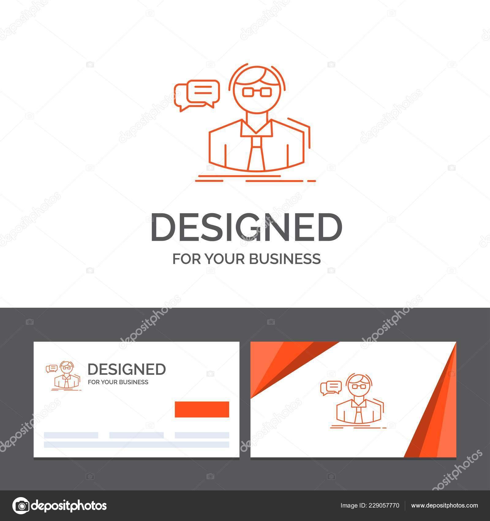 Business Logo Vorlage Für Professor Student Wissenschaftler