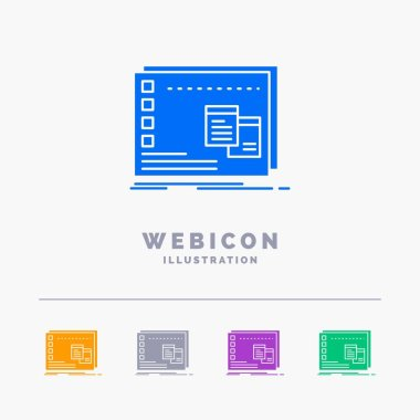 Window, Mac, operational, os, program 5 Color Glyph Web Icon Template isolated on white. Vector illustration icon