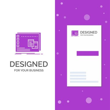 Business Logo for Window, Mac, operational, os, program. Vertical Purple Business / Visiting Card template. Creative background vector illustration icon