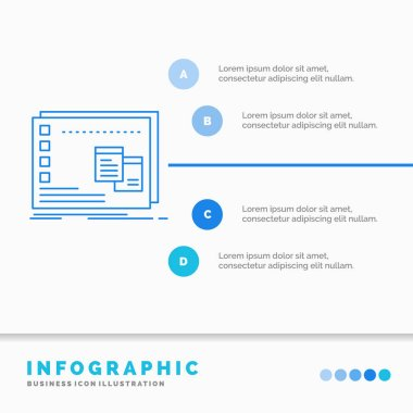 Window, Mac, operational, os, program Infographics Template for Website and Presentation. Line Blue icon infographic style vector illustration icon
