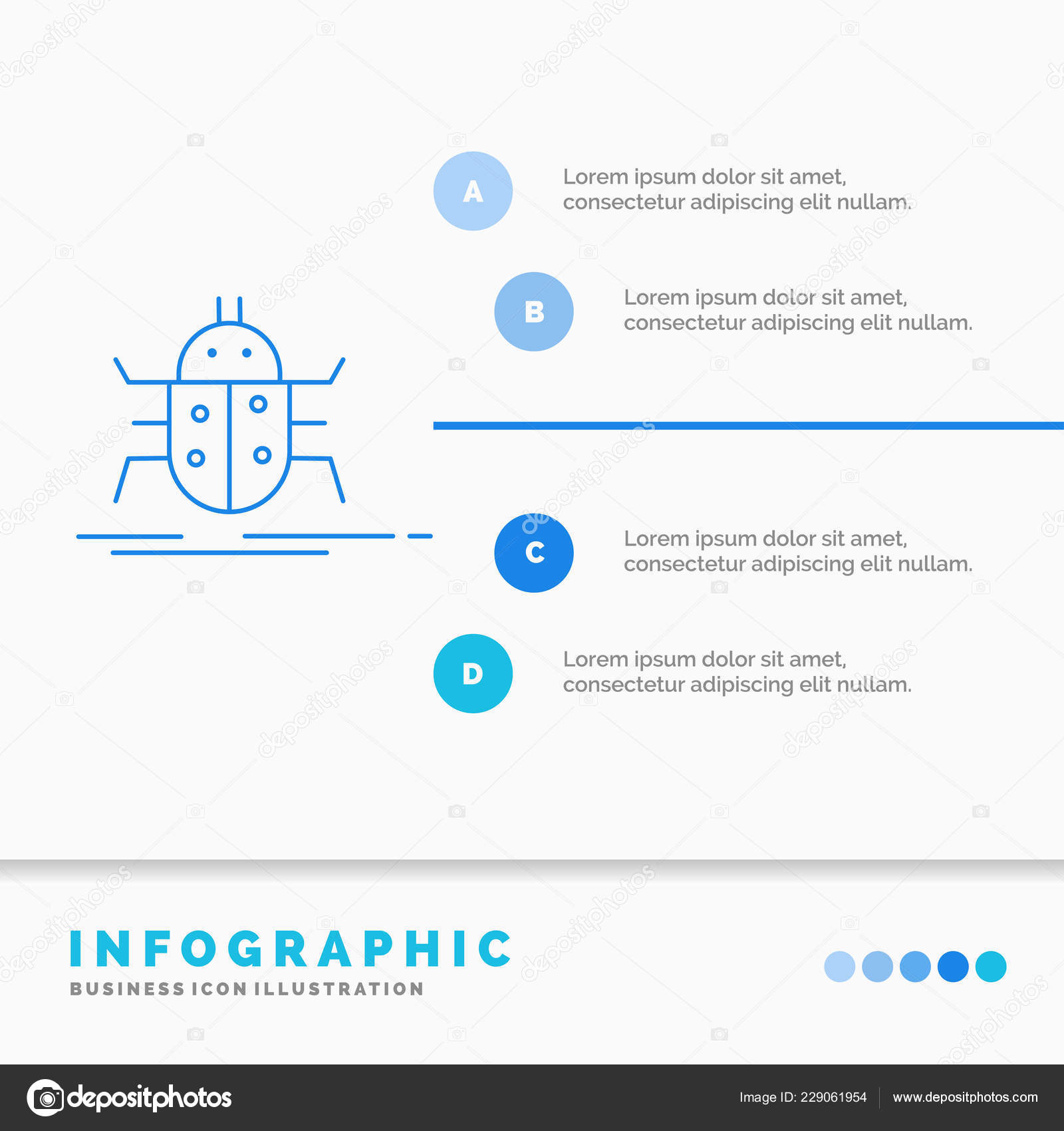 Bug Bugs Insect Testing Virus Infographics Template Website