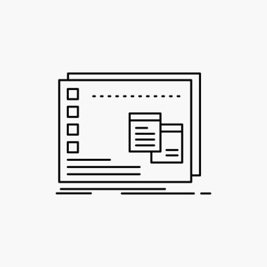 Window, Mac, operational, os, program Line Icon. Vector isolated illustration icon