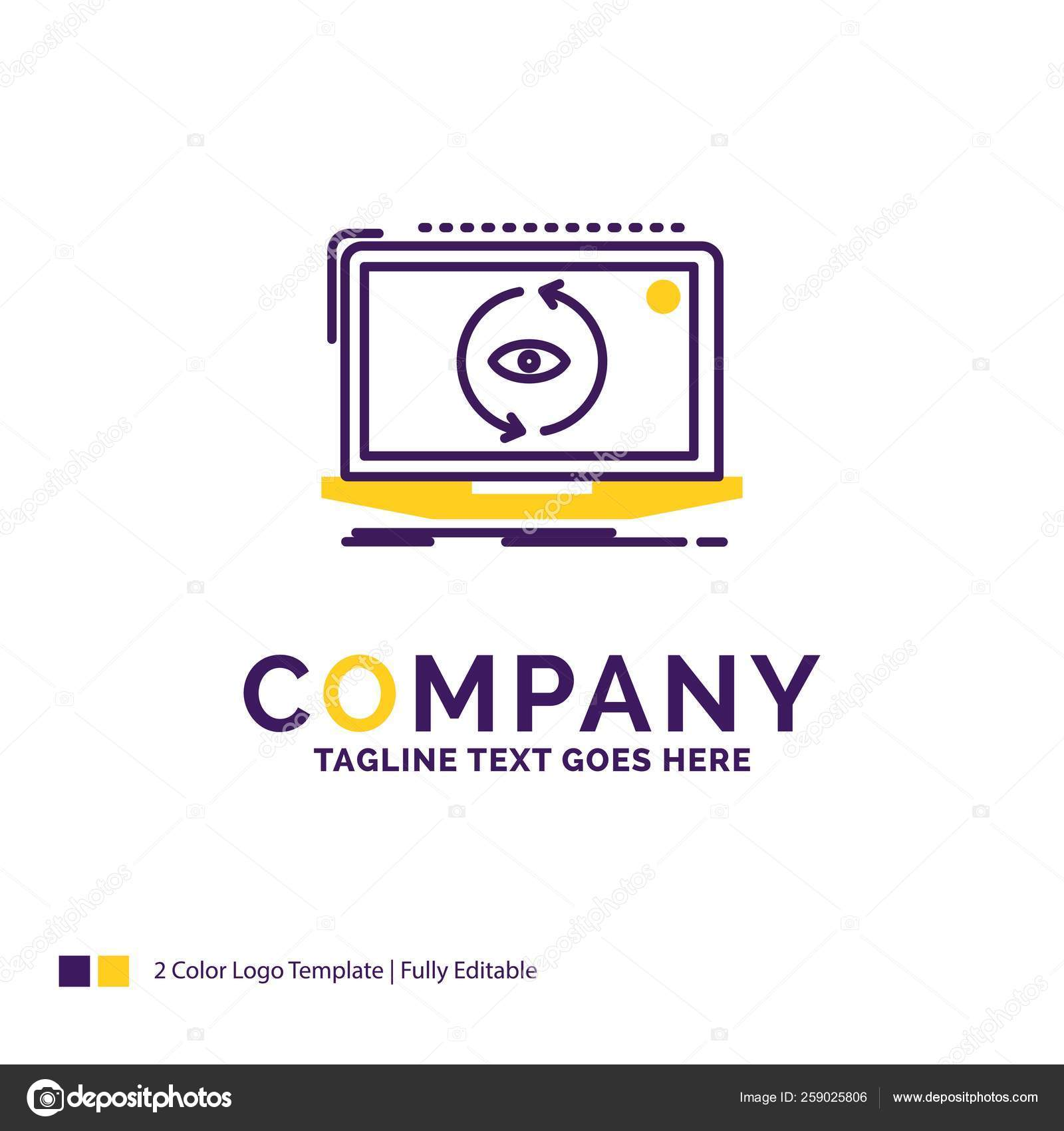 Company Name Logo Design For App Application New Software Up Stock Vector C Flatart 259025806